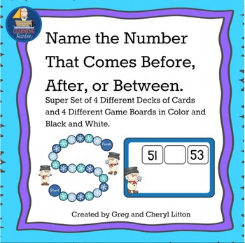 Board Game Math Center Find The Number Before, After, or B