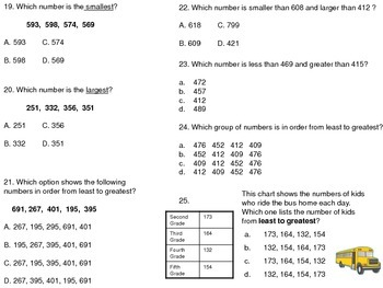 NBT.A.4 Comparing Numbers Greater Than/Less Than Assessment and Practice
