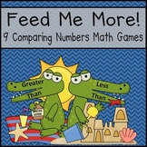 Comparing Numbers (Greater/Less Than) Math Centers (Common Core / Go Math! )