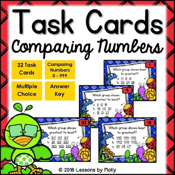 Comparing Numbers Greatest to Least and Least to Greatest Task Cards