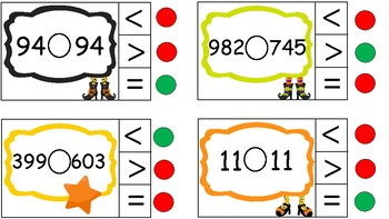 Comparing Numbers - Halloween Clothespin Activity