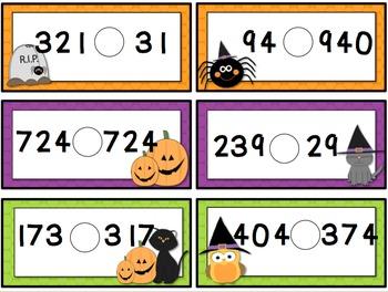 Comparing Numbers Halloween {Freebie}