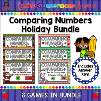 Comparing Numbers Holiday Bundle