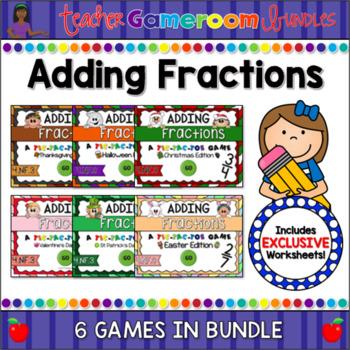 Adding Fractions Holiday Bundle