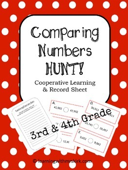 Comparing Numbers Scavenger Hunt