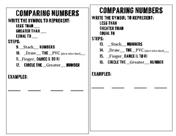 Comparing Numbers Interactive Journal Entry