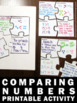 Comparing Numbers, 1st Grade Math Interactive Notebook, Puzzle Pieces