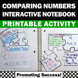 Comparing Numbers 1st Grade Math Interactive Notebook Greater Than Less Than