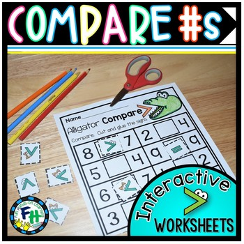 Comparing Numbers Interactive Worksheets {Kindergarten & First Grade}