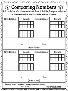 Comparing Numbers- Introduction Activity