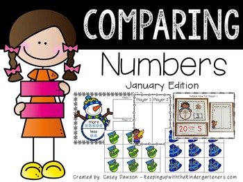 Comparing Numbers January Edition (Common Core and Texas TEKS Aligned)