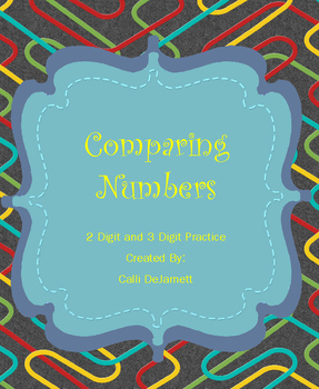 Comparing Numbers Journal Cut-Outs and Practice