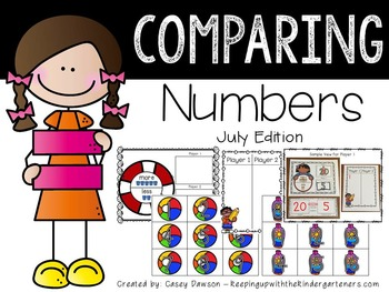 Comparing Numbers July Edition (Common Core and Texas TEKS Aligned)