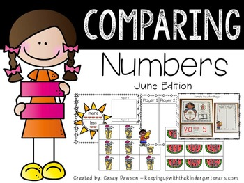 Comparing Numbers June Edition (Common Core and Texas TEKS Aligned)