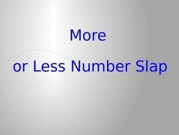 Comparing Numbers  K.CC.C.6 Number Slap Game