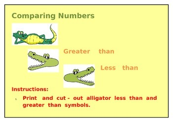 """Comparing Numbers """"Less than and Greater than"""""""