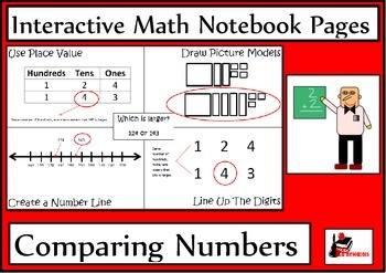 Comparing Numbers Lesson for Interactive Math Notebooks