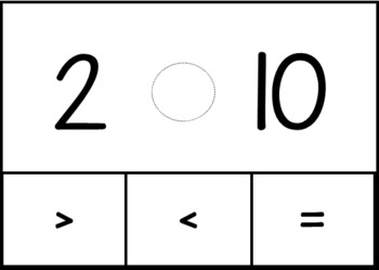 Comparing Numbers Level 2, Numbers 0-10