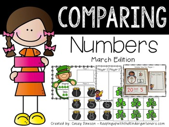 Comparing Numbers March Edition (Common Core and Texas TEKS Aligned)