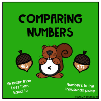 Comparing Numbers Math Center (Editable)