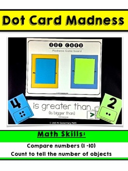 Comparing Numbers Math Centers Kindergarten
