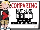 Comparing Numbers Math Mats [a hands-on building station]