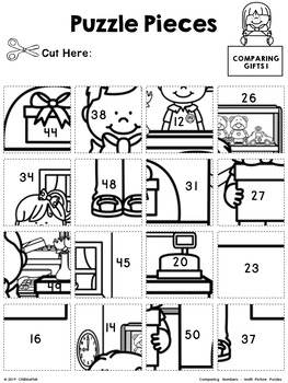 Comparing Numbers - Math Picture Puzzles {1st Grade}