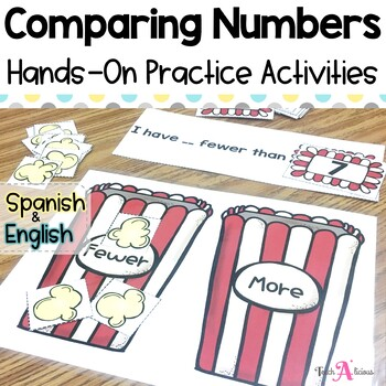 Comparing Numbers & Number Sense | in English & Spanish