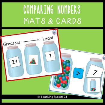 Comparing Numbers - Mats and cards