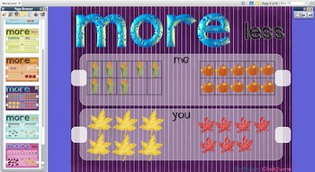 Comparing Numbers - More & Less Flipchart (ActivInspire/Promethean)