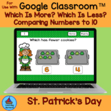 Comparing Numbers More or Fewer St. Patrick's Day Cookies
