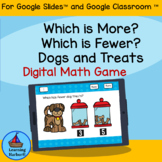 Comparing Numbers More or Fewer for Google Classroom Dista