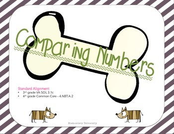 Comparing Numbers; Multiple Choice & TEI; 3rd grade VA SOL 3.1c; CCSS 4.NBT.A.2