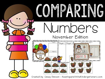 Comparing Numbers November Edition (Common Core and Texas TEKS Aligned)