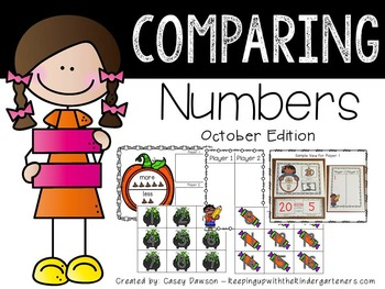 Comparing Numbers October Edition (Common Core and Texas TEKS Aligned)