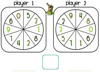 Comparing Numbers Partner Game
