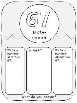Comparing Numbers-Place Value Student Pages (First Grade, 1.NBT.3)
