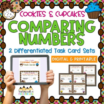 Comparing Numbers Place Value Task Cards { Common Core & D