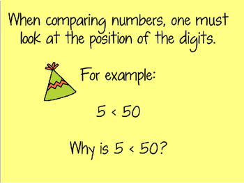 Comparing Whole Numbers and Decimals Power Point (Greater/Less Than)