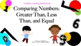Comparing Numbers: Powerpoint, Practice Mat, and Numbers a