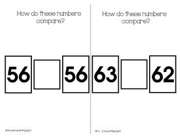 Comparing Numbers Practice Book