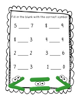 Comparing Numbers Practice Pages