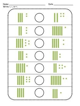 Comparing Numbers - Printables