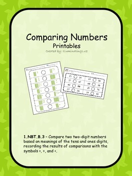 Comparing Numbers - Printables
