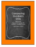 Comparing Numbers Quiz: 4th Grade