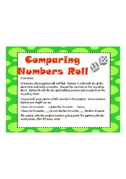 Comparing Numbers Roll
