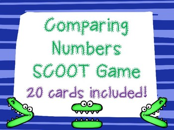 Comparing Numbers SCOOT Math Game