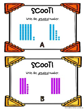 Comparing Numbers Scoot!