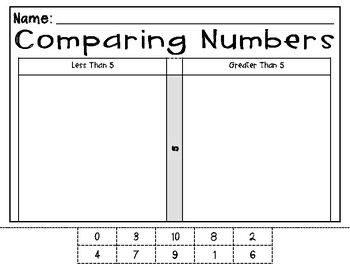 Comparing Numbers Scoot 1-10 w/ No Symbols