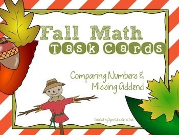 Fall Theme Math Task Cards